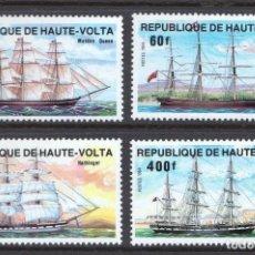 Sellos: ALTO VOLTA 1984 IVERT 628/31 *** DESARROLLO DE LAS COMUNICACIONES (II) - BARCOS. Lote 130902656