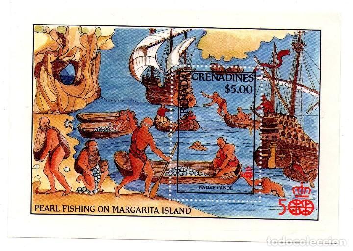 GRENADA GRENADINES 1987, HB129 , CRISTOBAL COLON (Sellos - Temáticas - Barcos)