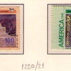 Sellos: ECUADOR 1220-21 UPAEP´90. CRISTOBAL COLON.. Lote 139365173
