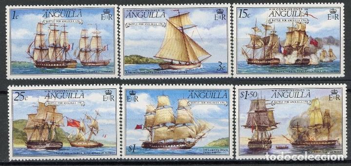 ANGUILLA 1976 IVERT 226/31 * BATALLA NAVAL POR ANGUILA - BARCOS (Sellos - Temáticas - Barcos)
