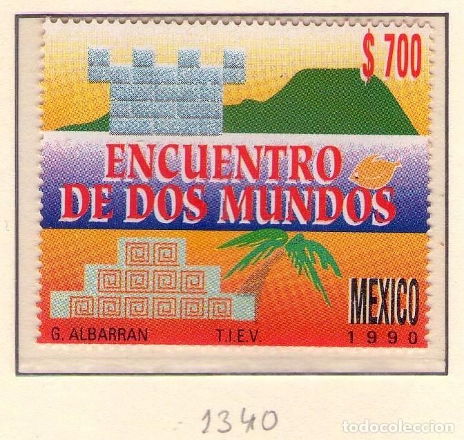 MEXICO 1340, ENCUENTRO DE DOS MUNDOS. CRISTOBAL COLON. (Sellos - Temáticas - Barcos)