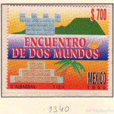 Sellos: MEXICO 1340, ENCUENTRO DE DOS MUNDOS. CRISTOBAL COLON.. Lote 133461714