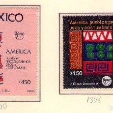 Sellos: MEXICO 1300-01 UPAEP89 . CRISTOBAL COLON.. Lote 133462210