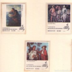 Sellos: MEXICO 1992, TRES SELLOS DE CRISTOBAL COLON Y V CENTENARIO.. Lote 142174213