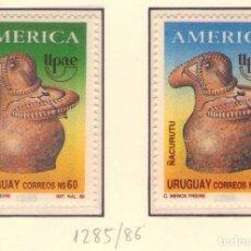Sellos: URUGUAY 1285-86 UPAEP´89 . Lote 133561106