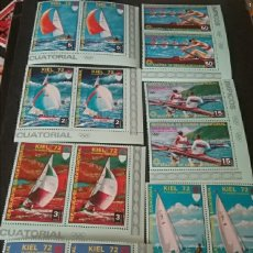 Sellos: SELLOS G. ECUATORIAL NUEVOS. 1972/OLIMPIADAS/JUEGOS/MUNICH/KIEL/REMO/VELEROS/DRAGON/DEPORTES ACUATIC. Lote 133683317