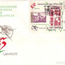 Sellos: ESPAÑA 1992. FDC. SOBRE 1ER. DIA. EXPOSICION MUNDIAL DE FILATELIA. GRANADA´92. CRISTOBAL COLON.. Lote 133828070