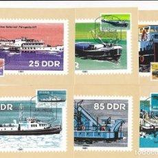 Sellos: DDR 1981 Y&T 2306/11 6 TARJETAS MÁXIMA SERIE COMPLETA. Lote 134186514
