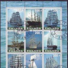 Sellos: RUANDA RWANDA 2000 HOJA BLOQUE SELLOS BARCOS DE NAVEGACION- VELEROS- SHIPS- BARCO . Lote 135578902