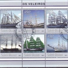 Sellos: GUINEA BISSAU 2001 HOJA BLOQUE SELLOS BARCOS DE NAVEGACION- BOATS- VOILIERS - BARCO - SHIPS- VELEROS. Lote 135579070