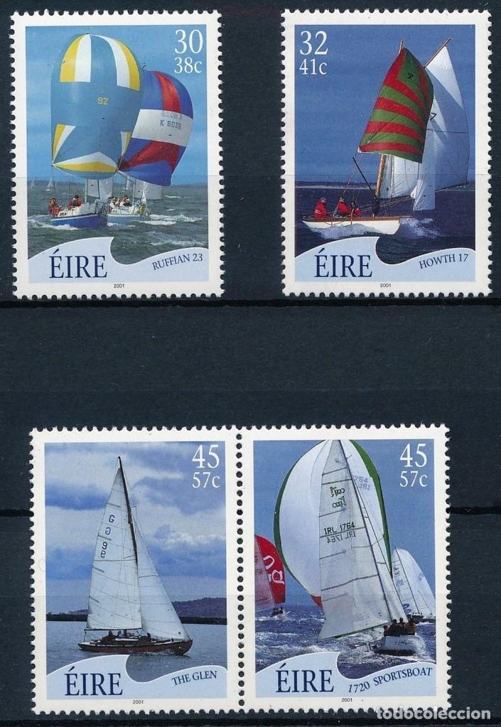 SELLOS IRLANDA 2001 BARCOS A VELA (Sellos - Temáticas - Barcos)