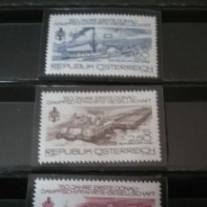 Sellos: SELLOS AUSTRIA (OSTERREICH) NUEVOS/1979/150 ANIV. COMPAÑIA BARCOS DANUBIO/BARCAZAS/CARGUERO/DRAGA/F. Lote 140278722