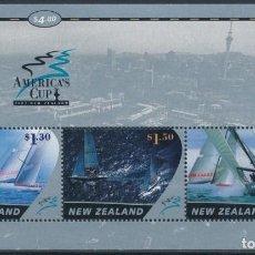 Sellos: SELLOS NUEVA ZELANDA 2002 COPA AMÉRICA DE VELA BARCOS. Lote 141404534