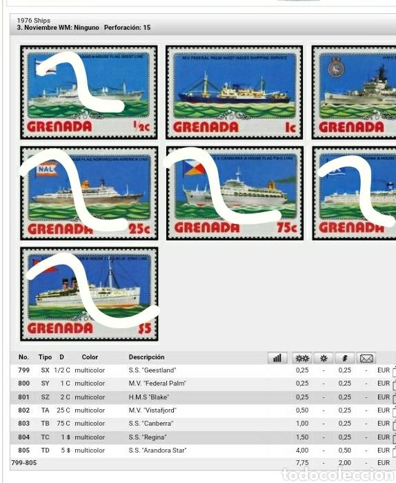 Sellos: Sellos Granada (Grenada) nuevos/1973-1976/Regatas/campeonato/Barcos/transporte/velero/crucero/buque/ - Foto 2 - 142810990