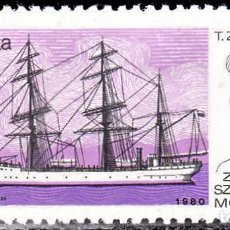 Sellos: 1980 - POLONIA - BUQUES DE ENTRENAMIENTO - YVERT 2517. Lote 147233080