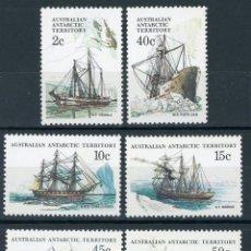 Sellos: AUSTRALIA T. ANTARTICO 1981 IVERT 47/52 *** BARCOS - SERIE BÁSICA (II). Lote 145519666