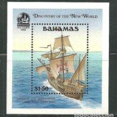 Sellos: BAHAMAS 1991 HB IVERT 62 *** 500º ANIVERSARIO DEL DESCUBRIMIENTO DE AMERICA - BARCOS - LA PINTA. Lote 147322598