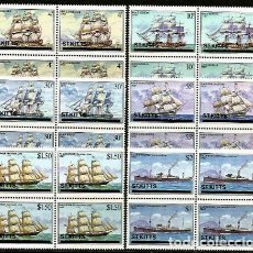 Sellos: SAN KITTS 1980 BARCOS CLASICOS. Lote 147691254