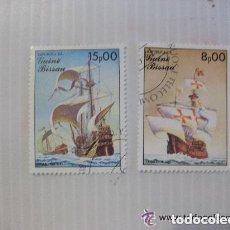 Sellos: LOTE DE 2 SELLOS DE GUINEA BISSAU : BARCOS ANTIGUOS, CARABELA.. Lote 148604638