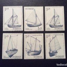Sellos: SUECIA Nº YVERT 1134/9*** AÑO 1981.BARCOS. Lote 151554354