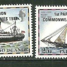 Sellos: FALKLAND 1982 IVERT 368/69 *** 12º JUEGOS DE LA COMMONWEALTH - DEPORTES - BARCOS. Lote 154807626
