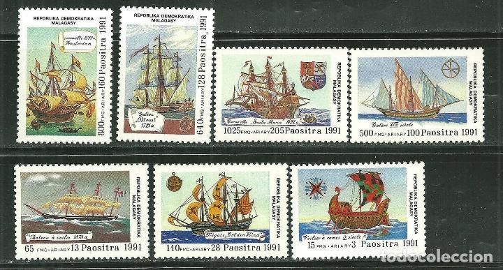 MALAGASY 1991 SC 1014/20 *** BARCOS VELEROS ANTIGUOS (Sellos - Temáticas - Barcos)