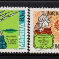 Sellos: MADEIRA 76/77** - AÑO 1981 - BARCOS - ANIVERSARIO DEL DESCUBRIMIENTO DE LA ISLA. Lote 156515514
