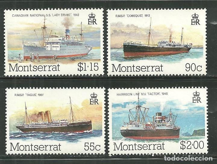 MONSERRAT 1980 IVERT 425/28 *** COMIENZO DEL TRANSPORTE POSTAL EN BARCOS (Sellos - Temáticas - Barcos)