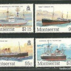 Sellos: MONSERRAT 1980 IVERT 425/28 *** COMIENZO DEL TRANSPORTE POSTAL EN BARCOS. Lote 159241966