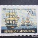 Sellos: ARGENTINA Nº YVERT A 133 150 ANIV.SALIDA DE LA FLOTA LIBERADORA DE PERU. Lote 160050846