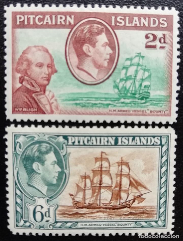1940. BARCOS. PITCAIRN. 4, 6. CAPITÁN WILLIAM BLIGH Y BOUNTY, BUQUE GUERRA BOUNTY. NUEVO CHARNELA. (Sellos - Temáticas - Barcos)