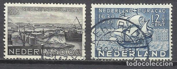 206C-HOLANDA NEDERLAND PAISES BAJOS 1934 SERIE COMPLETA Nº 265/6 TEMA BARCOS ,VALOR 4,50€ YVERT CURA (Sellos - Temáticas - Barcos)
