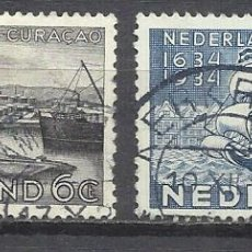 Sellos: 206C-HOLANDA NEDERLAND PAISES BAJOS 1934 SERIE COMPLETA Nº 265/6 TEMA BARCOS ,VALOR 4,50€ YVERT CURA. Lote 161703362