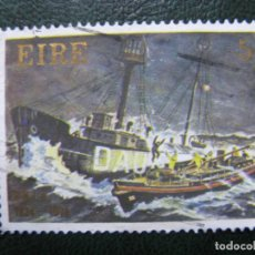 Sellos: IRLANDA, 1974* SELLO USADO, TEMA BARCOS. Lote 169864988