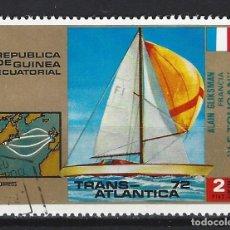 Sellos: BARCOS / GUINEA ECUATORIAL - SELLO USADO. Lote 170296832