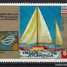 Sellos: BARCOS / GUINEA ECUATORIAL - SELLO USADO. Lote 170296892