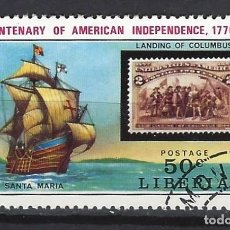 Sellos: BARCOS / LIBERIA - SELLO USADO. Lote 186207365