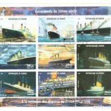 Sellos: HB DE GUINEA 1998, ACONTECIMIENTOS DEL SIGLO XX - À LA MÉMOIRE DES DISPARUS DU TITANIC 1912-1998. Lote 171376257