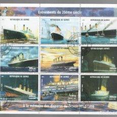 Sellos: HB DE GUINEA 1998, ACONTECIMIENTOS DEL SIGLO XX - À LA MÉMOIRE DES DISPARUS DU TITANIC 1912-1998. Lote 171376313