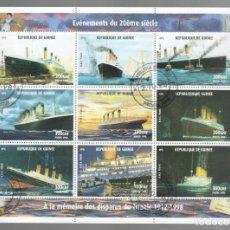 Sellos: HB DE GUINEA 1998, ACONTECIMIENTOS DEL SIGLO XX - À LA MÉMOIRE DES DISPARUS DU TITANIC 1912-1998. Lote 171376320