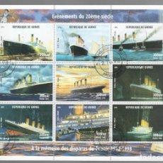 Sellos: HB DE GUINEA 1998, ACONTECIMIENTOS DEL SIGLO XX - À LA MÉMOIRE DES DISPARUS DU TITANIC 1912-1998. Lote 171376337
