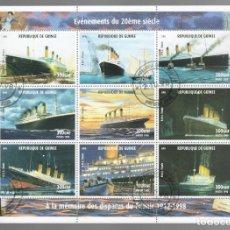 Sellos: HB DE GUINEA 1998, ACONTECIMIENTOS DEL SIGLO XX - À LA MÉMOIRE DES DISPARUS DU TITANIC 1912-1998. Lote 171376347