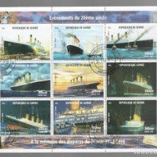 Sellos: HB DE GUINEA 1998, ACONTECIMIENTOS DEL SIGLO XX - À LA MÉMOIRE DES DISPARUS DU TITANIC 1912-1998. Lote 171423395