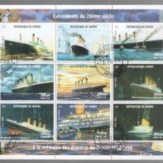 Sellos: HB DE GUINEA 1998, ACONTECIMIENTOS DEL SIGLO XX - À LA MÉMOIRE DES DISPARUS DU TITANIC 1912-1998. Lote 171423432