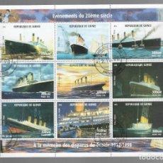 Sellos: HB DE GUINEA 1998, ACONTECIMIENTOS DEL SIGLO XX - À LA MÉMOIRE DES DISPARUS DU TITANIC 1912-1998. Lote 171423475