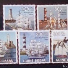 Sellos: CELEBRES VELEROS SERIE COMPLETA DE SELLOS NUEVOS DE GUINEA BISSAU. Lote 171442797