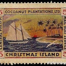 Sellos: CHRISTMAS ISLAND 1924 COCOANUT MAIL BOAT SERVICE. Lote 171498915
