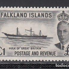 Sellos: COLONIAS INGLESAS, FALKLAND. 1949 YVERT Nº 114 /**/, BARCO.. Lote 172577020