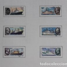 Sellos: 6 SELLOS UNIÓN SOVIÉTICA AÑO 1980 BARCOS SOVIÉTICOS DE INVESTIGACIÓN CIENTÍFICA. Lote 173913249