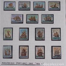 Sellos: SERIE DE 15 SELLOS BARCOS VELEROS DESDE 1430 A 1843 MOZAMBIQUE PORTUGAL 1965. Lote 173914494